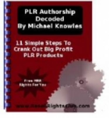 Product picture PLR Authorship Decoded