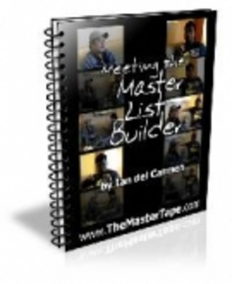 Product picture Meeting The Master List Builder